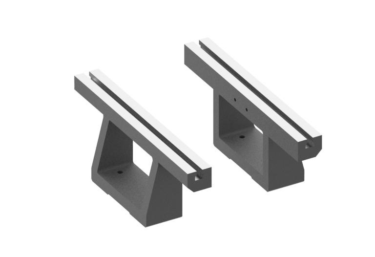 Pair of parallel supports